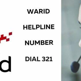 Warid Helpline Number Dial 321