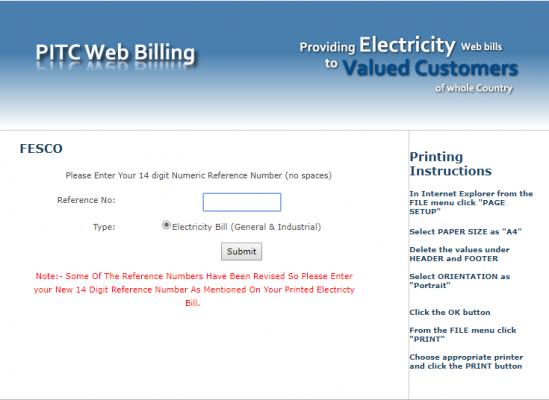 FESCO Bill Online in 2021 | Generate Duplicate Copy of Bill