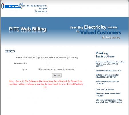 IESCO Bill Online in 2021 | Generate Duplicate Bill Online