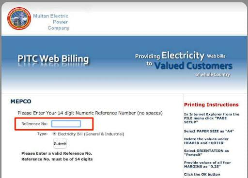 MEPCO BILL Online in 2021 | Generate Duplicate Bill