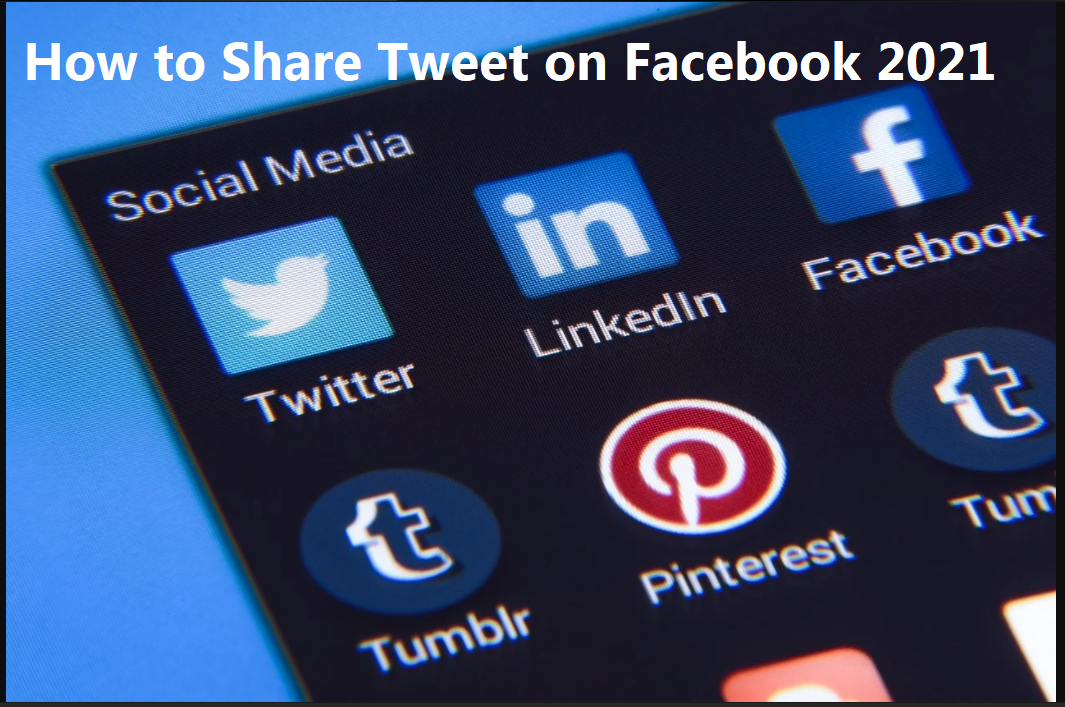 How to share tweet on facebook