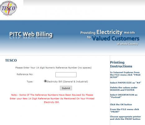 TESCO Bill Online in 2021   Duplicate Billing System