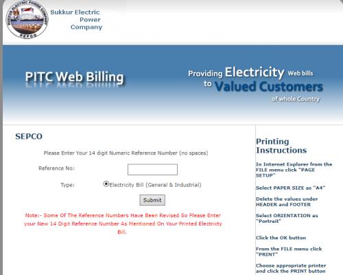 SEPCO Bill Online in 2021