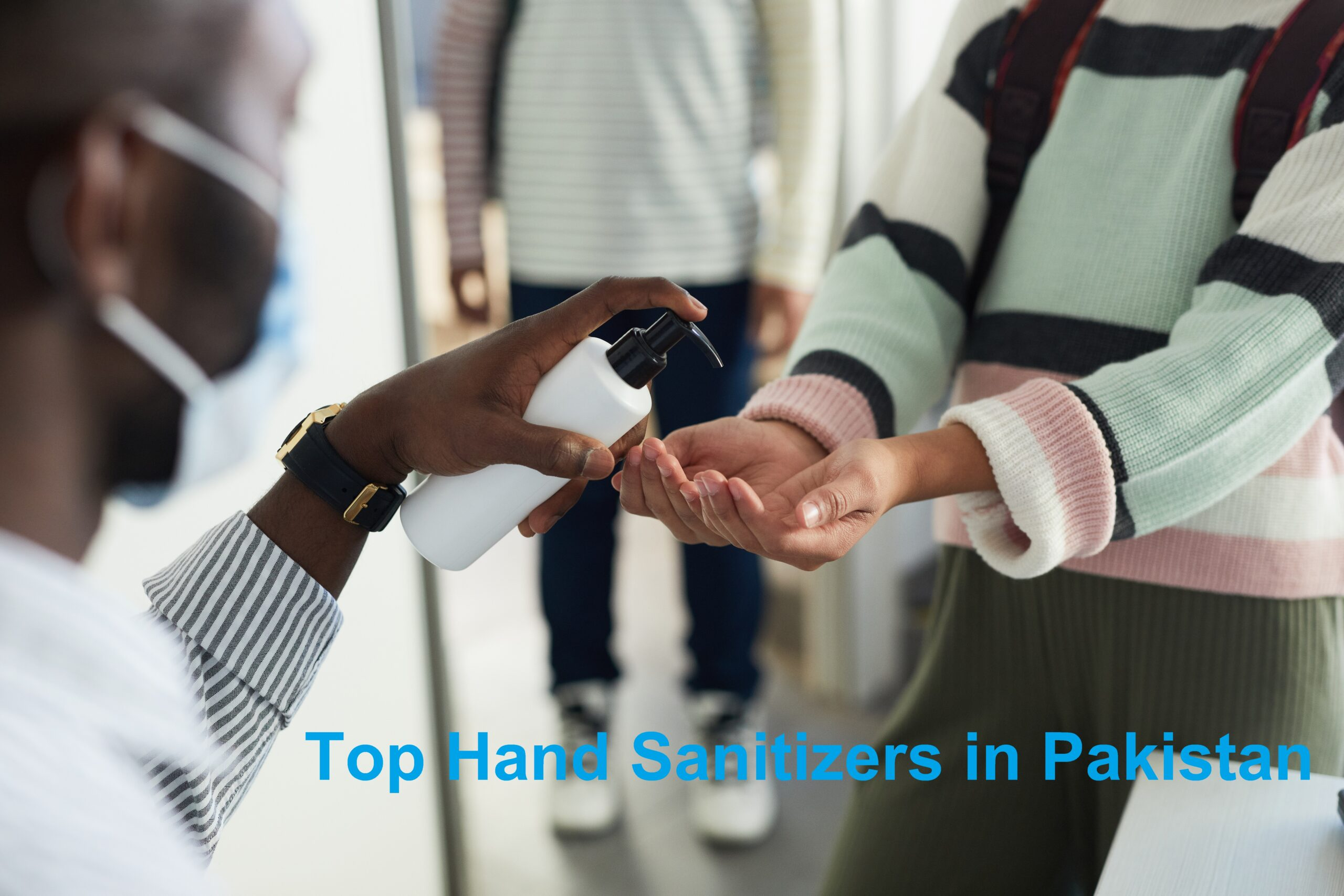 Hand Sanitizing in School Closeup